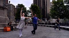 Dancing in Columbus Circle (VMilian) Tags: nyc newyorkcity dancing manhattan streetphotography couples columbuscircle nikond3200