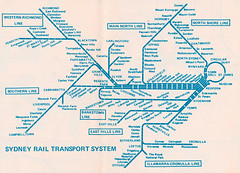 Sydney Rail Transport System map - c1976 (issued by the Public Transport Commission of New South Wales) (davemail66) Tags: metro map sydney railway nsw ptc publictransportcommissionofnewsouthwales sydneyrailtransport
