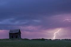 ZAP! (Len Langevin) Tags: sky canada storm abandoned weather clouds wow nikon alberta shack lightning prairie nikkor thunder wx d300 18300