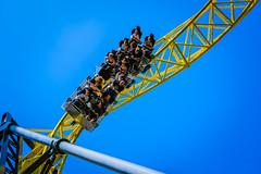 DSC_1919 (mihail.suontaus) Tags: park blue people yellow finland fun amusement helsinki nikon sigma amusementpark rollercoaster scared linnanmki lightroom d7100