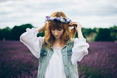Lavender Love (Kat Terek) Tags: portrait yellow ginger lavender redhead portraiture magicmoments gingergirl redheadwoman gingerwoman canon550d canont2i riennahera