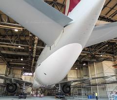 A7-BBE - Qatar Airways B777-200LR ( Adam_Ryan ) Tags: qatarairways qatar b777 b6 b777200lr a7bbe dub eidw dublinairport dublinairport2014 eirtech eirtechaviation painting maintainence hanger back huge big