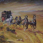 "<b>Desert Run</b><br/> David Humphreys Miller (1918-1992) ""Desert Run"" Oil, n.d. LFAC #956<a href=""http://farm8.static.flickr.com/7201/6779928202_8250504aa6_o.jpg"" title=""High res"">∝</a>"