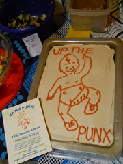 up the punx under zero (artnoose) Tags: orange baby cake shower vegan punk pittsburgh chocolate decoration invitation icing punx letterpress decorate frosting upthepunx thirdtermite
