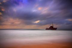Sygna Sunrise. (Matty Havok) Tags: ocean morning sea water clouds sunrise dawn dunes shipwreck stockton sanddunes sygna stocktonbeach fullertoncove stocktondunes mvsygna