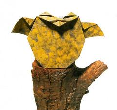Origami création - Didier Boursin - Chouette