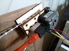 Polargraph motor connectors (Euphy) Tags: spring motor spool rj45 arduino adafruit motorshield polargraph