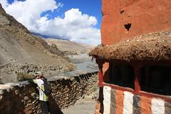 Taking in the scenery on a Multi sport treking Mountain biking rafting kayaking trip in Nepal