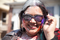 (chasiphoto) Tags: holiday newyork colors parade celebration queens dye hindu holi celebrate richmondhill phagwah babypowder
