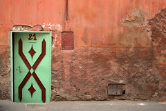 21 Jump Street.. (areyarey) Tags: africa street door old city brown house color building green art texture stone wall closeup architecture facade design ancient gate colorful 21 african muslim islam