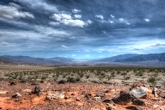 Death Valley (Daniel J. Mueller) Tags: california park usa clouds bush rocks desert national valley deathvalley hdr 7xp d3s