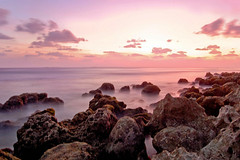 Misty Pool...♥¨`» (RíchÝ) Tags: ocean sunset seascape beach beautiful rock sand long exposure surf waves awesome explore maldives fogy exporse