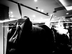 Headless (SpaceMars) Tags: city winter urban blackandwhite bw window shop shirt hongkong store clothing model display 28mm tie clothes business suit demonstration shoppingmall demonstrate monochome grd menfashion