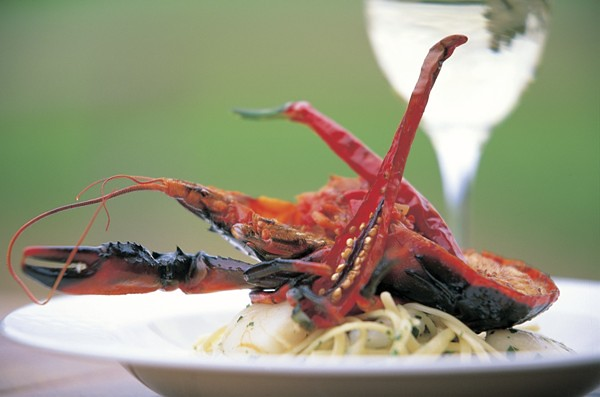 003955-786 lobster dish at Watershed Premium Wines(MR)