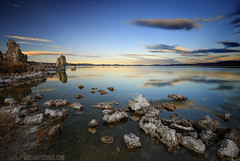 Mono Lake at afternoon (alpenbild.de) Tags: california ca usa lake reflection nature rock landscape see natur sierra fels monolake sierranevada landschaft tufa reflexion kalifornien leevining 50fav southtufa mygearandme mygearandmepremium mygearandmebronze mygearandmesilver mygearandmegold mygearandmeplatinum