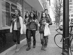 Ugg Brigade - Teens 2012 (Joris_Louwes) Tags: group teens smartphone uniformity 2012 uggs texting