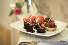 Sweets for my sweet (Stuart Stevenson) Tags: stilllife cakes rose photography scotland valentine sweets petitfours lightandairy clydevalley happyvalentine handmadechocolates thanksforviewing canon5dmkii stuartstevenson stuartstevenson minipecanpies raspberrymacaroons