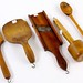 211. Antique Wooden Kitchen Utensils