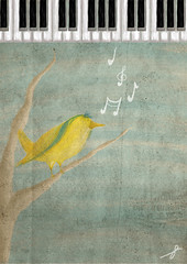 ~ (~Haifa) Tags: bird piano