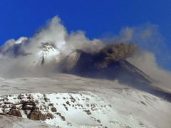 Livin' Thing (etnaboris) Tags: blue winter sky italy snow home volcano sicily etna 2012 trecastagni summitcraters ashemission newsoutheastcrater