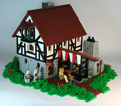 Time travelling croissants (DARKspawn) Tags: house castle bread lego medieval bakery robber darkspawn