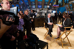 Prime Minister Monti visits NYSE (Embassy of Italy in the US) Tags: italy italia embassy primeminister nyse monti bartiromo bisogniero