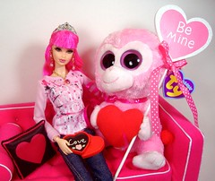 Rosalie Valentine #1 (Bridget_John316) Tags: pink st hearts miniature day babies adler barbie sofa ty valentines liv jonathon rement beanie diorama steffie tarina tarantino boos