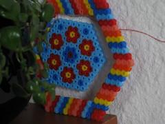 Mobile mit Blmchen (petuniad) Tags: beads hama perler prlplattor hamabeads perlerbeads strijkkralen bgelperlen buegelperlen