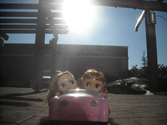 janie and jasmine driving their car