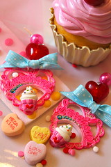 Sweetheart Sprinkles Cupcake Earrings with Bow (athinalabella1) Tags: pink paris cute glass yellow cake marie glitter hearts french costume spring yummy rainbow ribbons colorful neon yum candy heart princess sweet bears kitsch funky carousel jewelry mama pop pearls sugar ring lolita pony cupcake fantasy bakery bow kawaii valentines cameo glam antoinette ribbon chic bling sweethearts etsy dots lollipop gummi licorice drama unicorn suga tulle couture bows marieantoinette parisian gumballs whimsical frilly keroppi conversationhearts pedestal neovictorian shabby frou girlygirl cupcakesprinkles confettisprinkles athinalabella