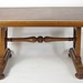 295. 19th Century Oak and Leather Library Table