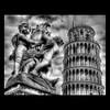 Pisa B&W HDR (R.o.b.e.r.t.o.) Tags: blackandwhite bw italy tower nikon italia unesco pisa tuscany roberto toscana biancoenero torrependente d700 lafontanadeiputti hdr9raw