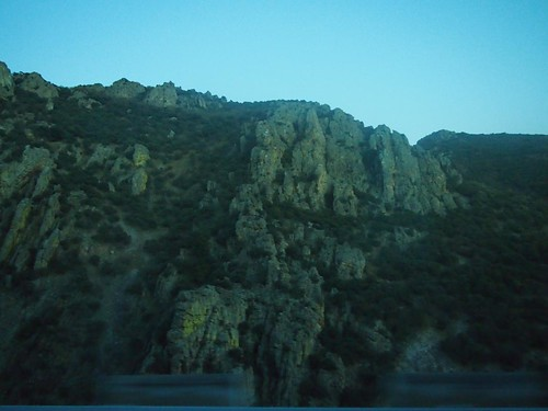Driving Through the Mountains