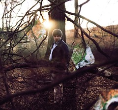 when you find yourself lost. (Casey David) Tags: boy sunset portrait sun sunlight white selfportrait black tree guy wet standing forest self dead lost woods map united sunny explore jacket bark fallen states staring blazer anxiety fallentree losing anxious caseydavidphotography