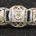 J19. Edwardian Diamond Bar Pin