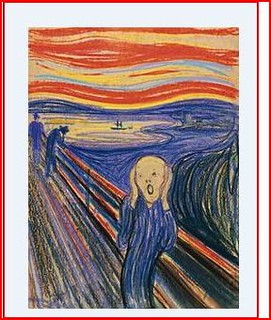 From http://www.flickr.com/photos/26208889@N05/6931223281/: The Scream (1893)  (Norwegian: Skrik)