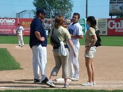 (mestes76) Tags: 3 sports minnesota allison baseball duluth suzie firstbase medicalstaff hitbypitch 070411 duluthhuskies wadestadium marcusriewer