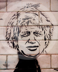 Boris Johnson Banksy Graffiti London UK (Roger Cracknell Photography) Tags: street uk travel wild colour london art tourism painting graffiti cool artist expression traditional creative culture banksy style destination recreation create atmospheric touristattraction cultural attraction garffic