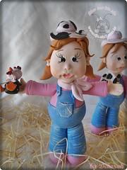 (Atelier Amor Pela Arte) Tags: biscuit cowgirl decorao lembranas galinhas pintinhos vaquinhas burrinhos