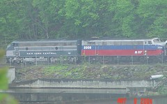 FL-9s 2012 & 2008 (blazer8696) Tags: new york railroad connecticut central stripe ct shelton lightning 2008 excursion metronorth 2012 livery emd fl9 21979 21985 hrrc mncr rte34 dsc02096 t2004 housationic