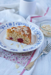 Cherry and almond cake (Alla Pimm) Tags: food cake cherry dessert baking frangipane sweet country rustic almond tasty flake delicious meal piece flour allapimmphotography