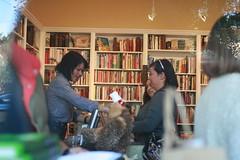 through the window (Celeste Noche) Tags: baker joy books wilson author signing omnivore