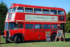 She Chocolat Bus (geoftheref) Tags: she new christchurch music hot bus festival concert chocolate canterbury double mining zealand oil routemaster aotearoa fundraiser doubledecker chocolat decker geoftheref fracking antifracking