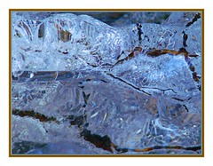 Ageing blue beauty (Walter A. Aue) Tags: winter canada ice watercolor novascotia twig brook digitallymodified walteraaue