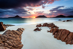 everyday wonder (Luke Tscharke) Tags: longexposure morning mountain beach beauty sunrise wonder geotagged march sand rocks time heads newsouthwales everyday nelsonbay portstephens 2012 shoalbay unspoilt tomaree yacaaba rggrad geo:lat=3270981639121001 geo:lon=15216214653083512