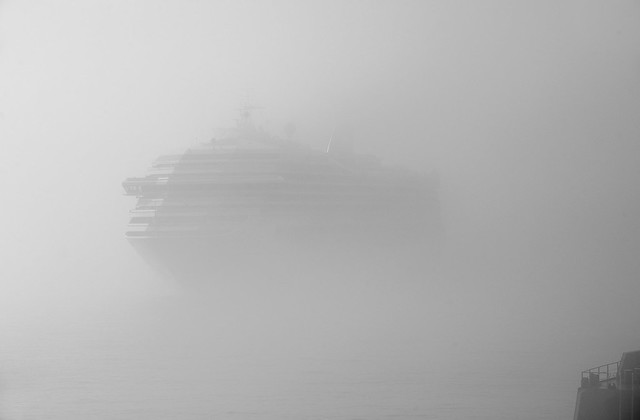 Passenger Ship in Fog