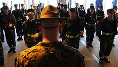 Marine Corps sergeants mold officers at Officer Training Command (usnavy/nstc) Tags: ri usa newport marinecorpsgunnerysergeantdrillinstructorofficercandidateschoolofficertrainingcommand