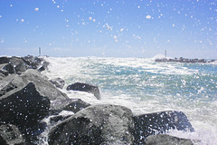 Wooli, NSW (Breanne Sartori) Tags: ocean beach wave inlet seaspray wooli crashingwave