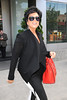 Kris Jenner is seen departing from her Manhattan Hotel New York City, USA