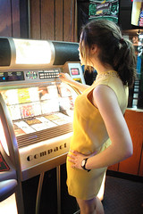 Yeah. (Madeline K.) Tags: music yellow vintage neon dress watch jukebox bowlingalley